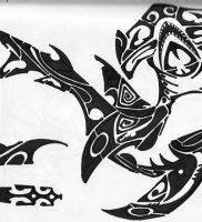 фото тату Акула молот от 23.01.2018 №013 — Tattoo Shark Hammer — tattoo-photo.ru