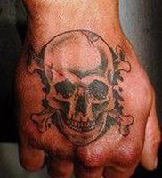 фото тату Веселый Роджер от 03.01.2018 №006 — tattoo Jolly Roger — tattoo-photo.ru