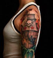 фото тату Веселый Роджер от 03.01.2018 №015 — tattoo Jolly Roger — tattoo-photo.ru