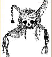 фото тату Веселый Роджер от 03.01.2018 №017 — tattoo Jolly Roger — tattoo-photo.ru