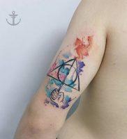 фото тату Дары Смерти от 20.02.2018 №136 — Deathly Tattoo — tattoo-photo.ru