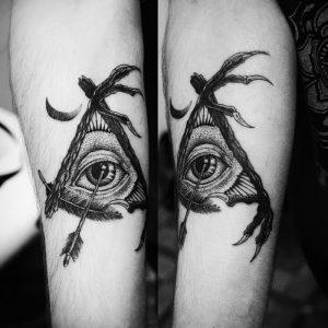 фото тату Дотворк от 27.02.2018 №001 - Dotvork tattoo - tattoo-photo.ru