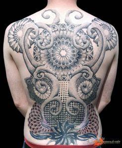 фото тату Дотворк от 27.02.2018 №055 - Dotvork tattoo - tattoo-photo.ru