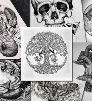 фото тату Дотворк от 27.02.2018 №124 — Dotvork tattoo — tattoo-photo.ru