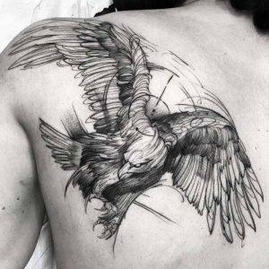 фото тату Орел от 10.03.2018 №009 - tattoo eagle - tattoo-photo.ru