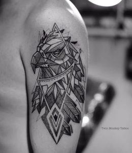 фото тату Орел от 10.03.2018 №027 - tattoo eagle - tattoo-photo.ru