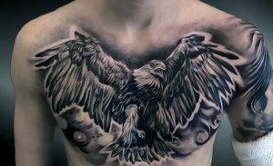 фото тату Орел от 10.03.2018 №054 - tattoo eagle - tattoo-photo.ru