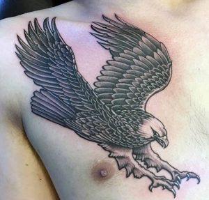 фото тату Орел от 10.03.2018 №078 - tattoo eagle - tattoo-photo.ru