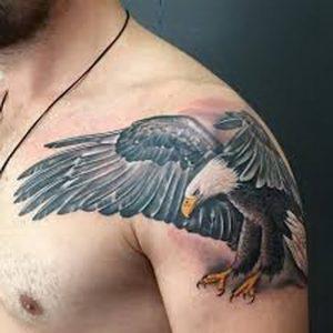 фото тату Орел от 10.03.2018 №091 - tattoo eagle - tattoo-photo.ru