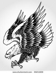 фото тату Орел от 10.03.2018 №118 - tattoo eagle - tattoo-photo.ru