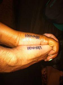 фото тату Римские цифры от 27.02.2018 №063 - tattoos Roman numerals - tattoo-photo.ru