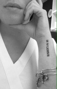 фото тату Римские цифры от 27.02.2018 №080 - tattoos Roman numerals - tattoo-photo.ru