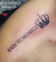 фото тату Римские цифры от 27.02.2018 №111 — tattoos Roman numerals — tattoo-photo.ru