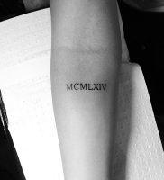 фото тату Римские цифры от 27.02.2018 №117 — tattoos Roman numerals — tattoo-photo.ru