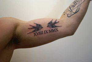 фото тату Римские цифры от 27.02.2018 №139 - tattoos Roman numerals - tattoo-photo.ru