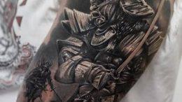 фото тату Самурай от 20.02.2018 №110 - tattoo samurai - tattoo-photo.ru