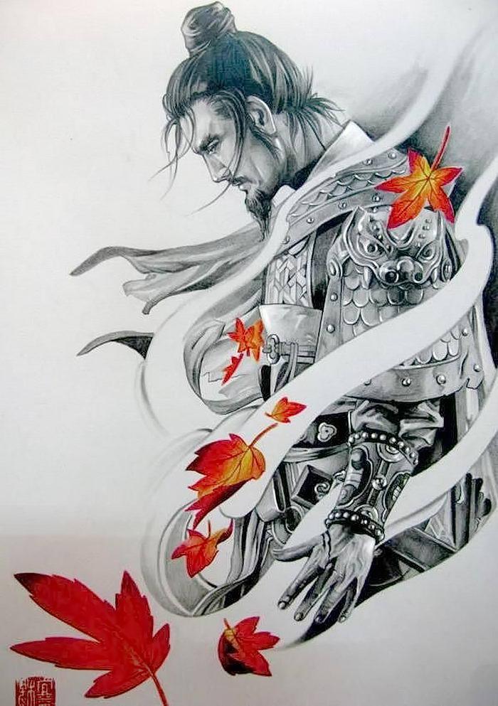 Хорошее, картинки самурай тату