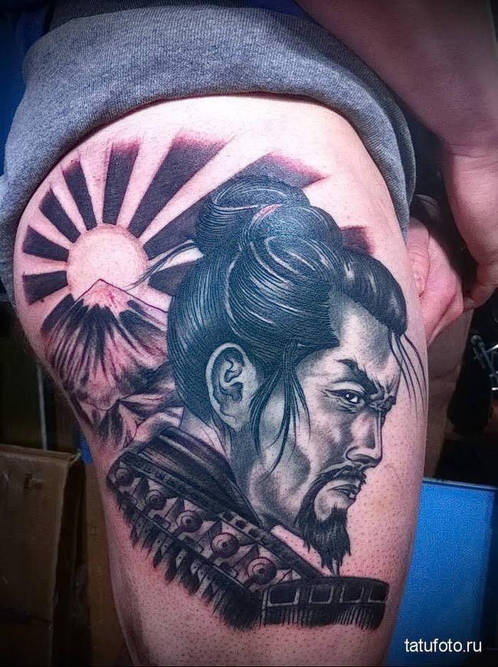 тату японских самураев фото направление тропические