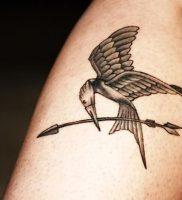 фото тату Сойка Пересмешница от 03.01.2018 №114 — Tattoo MOCKINGJAY — tattoo-photo.ru