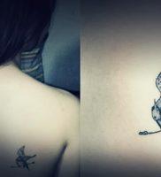 фото тату Сойка Пересмешница от 03.01.2018 №127 — Tattoo MOCKINGJAY — tattoo-photo.ru