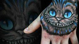фото тату Чеширский кот от 23.01.2018 №056 - tattoo Cheshire Cat - tattoo-photo.ru