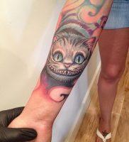 фото тату Чеширский кот от 23.01.2018 №058 — tattoo Cheshire Cat — tattoo-photo.ru