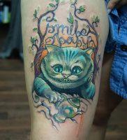 фото тату Чеширский кот от 23.01.2018 №059 — tattoo Cheshire Cat — tattoo-photo.ru