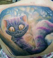 фото тату Чеширский кот от 23.01.2018 №061 — tattoo Cheshire Cat — tattoo-photo.ru