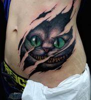 фото тату Чеширский кот от 23.01.2018 №063 — tattoo Cheshire Cat — tattoo-photo.ru