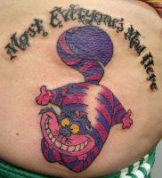 фото тату Чеширский кот от 23.01.2018 №066 — tattoo Cheshire Cat — tattoo-photo.ru