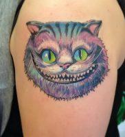 фото тату Чеширский кот от 23.01.2018 №067 — tattoo Cheshire Cat — tattoo-photo.ru