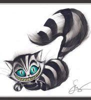 фото тату Чеширский кот от 23.01.2018 №073 — tattoo Cheshire Cat — tattoo-photo.ru