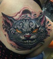 фото тату Чеширский кот от 23.01.2018 №074 — tattoo Cheshire Cat — tattoo-photo.ru