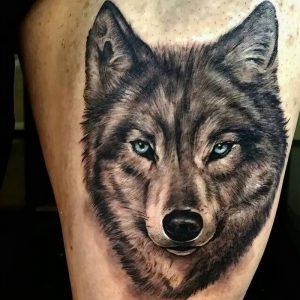 фото тату волк от 12.03.2018 №004 - tattoo wolf - tattoo-photo.ru