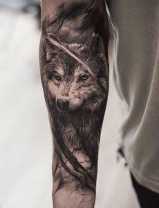 фото тату волк от 12.03.2018 №034 - tattoo wolf - tattoo-photo.ru