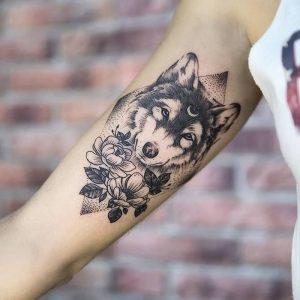 фото тату волк от 12.03.2018 №037 - tattoo wolf - tattoo-photo.ru