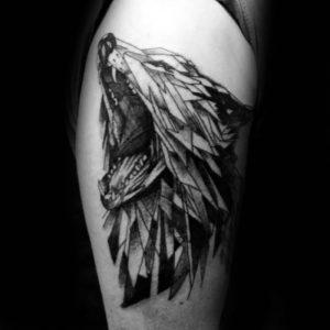 фото тату волк от 12.03.2018 №043 - tattoo wolf - tattoo-photo.ru