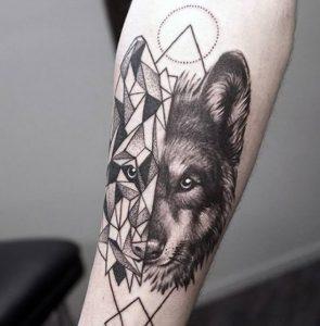 фото тату волк от 12.03.2018 №048 - tattoo wolf - tattoo-photo.ru