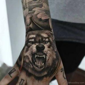 фото тату волк от 12.03.2018 №067 - tattoo wolf - tattoo-photo.ru
