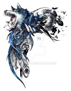 фото тату волк от 12.03.2018 №083 - tattoo wolf - tattoo-photo.ru