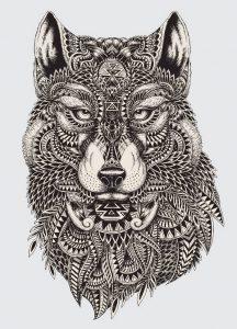фото тату волк от 12.03.2018 №093 - tattoo wolf - tattoo-photo.ru