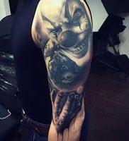 фото тату клоун от 14.01.2018 №001 — Clown tattoo — tattoo-photo.ru