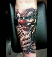 фото тату клоун от 14.01.2018 №003 — Clown tattoo — tattoo-photo.ru