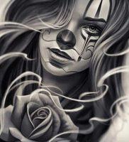 фото тату клоун от 14.01.2018 №004 — Clown tattoo — tattoo-photo.ru