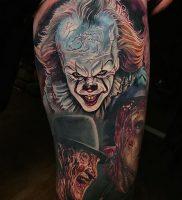 фото тату клоун от 14.01.2018 №006 — Clown tattoo — tattoo-photo.ru