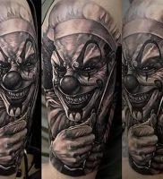 фото тату клоун от 14.01.2018 №008 — Clown tattoo — tattoo-photo.ru