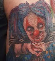 фото тату клоун от 14.01.2018 №009 — Clown tattoo — tattoo-photo.ru