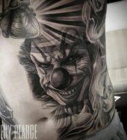 фото тату клоун от 14.01.2018 №010 — Clown tattoo — tattoo-photo.ru