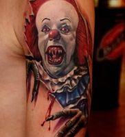 фото тату клоун от 14.01.2018 №011 — Clown tattoo — tattoo-photo.ru