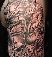 фото тату клоун от 14.01.2018 №012 — Clown tattoo — tattoo-photo.ru